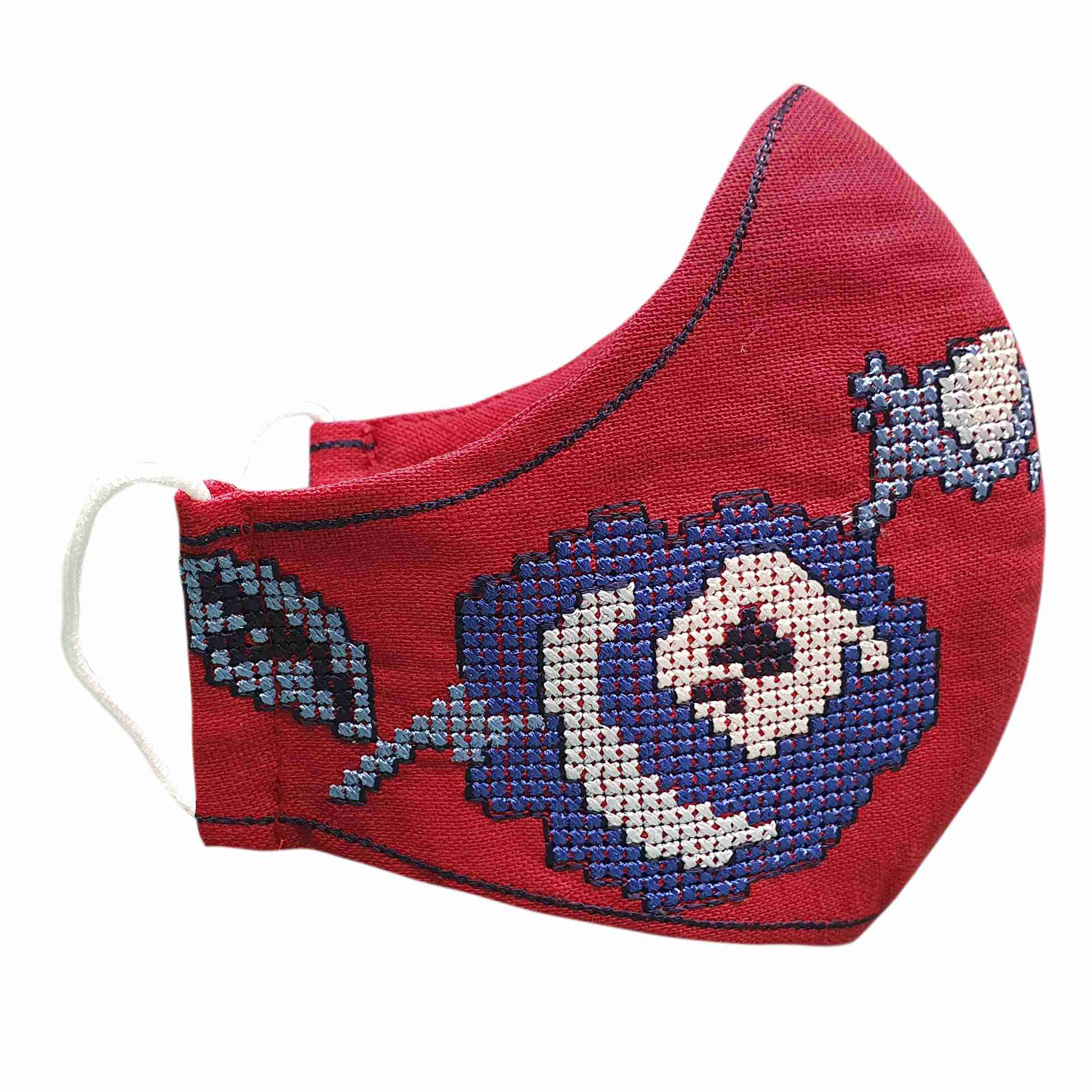 masks with Ukrainian embroidery