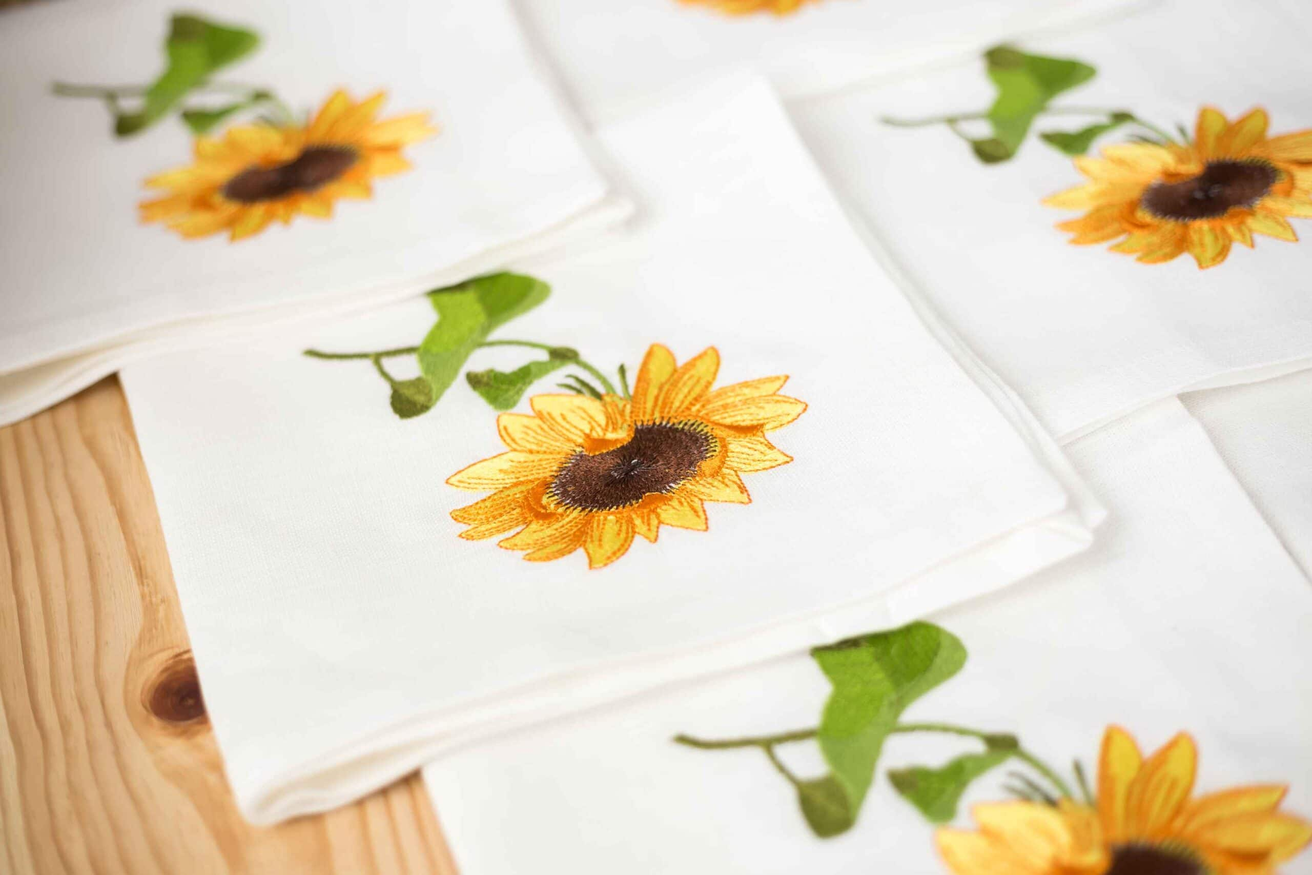 order napkins with logo embroidery