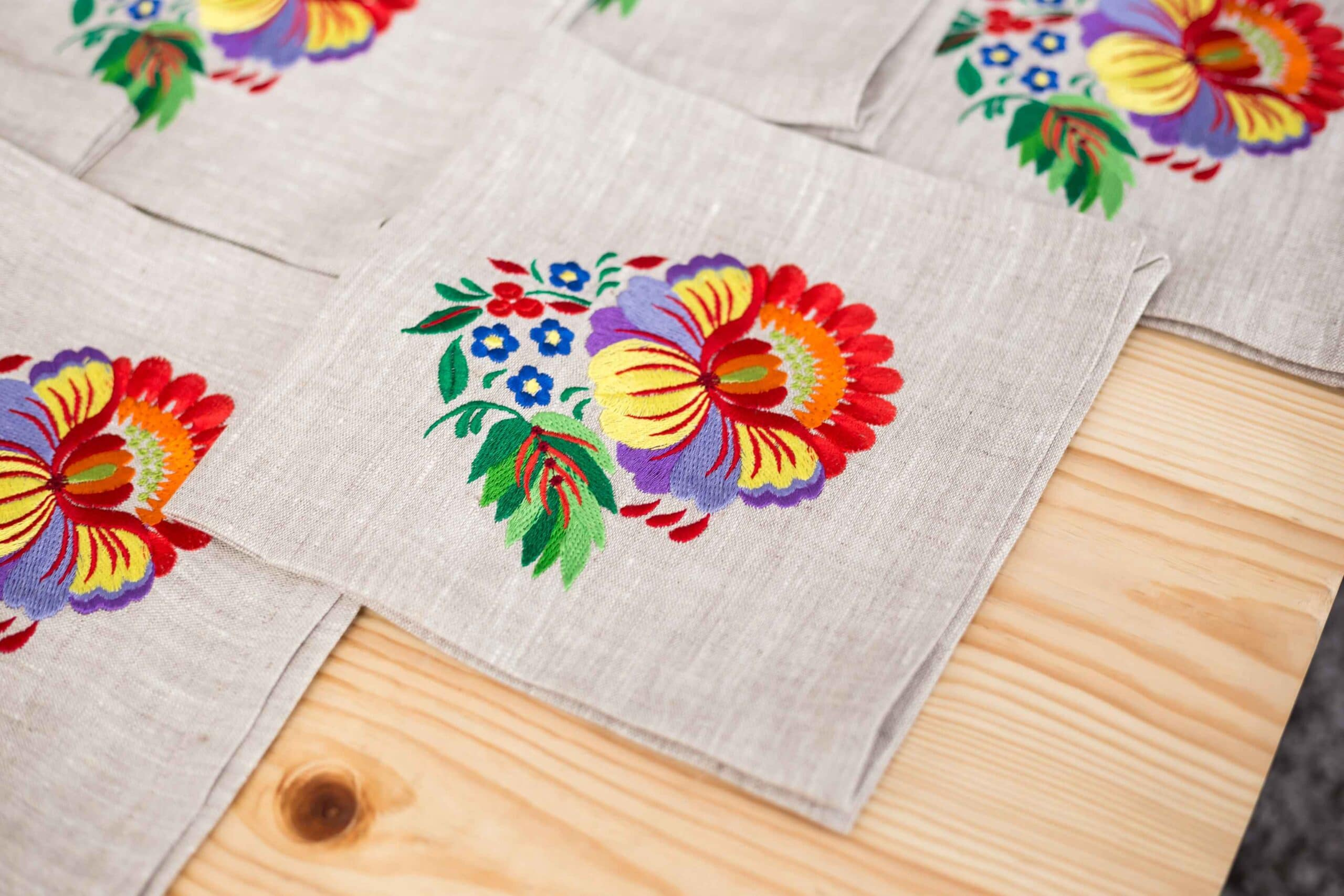 Custom embroidered tablecloth