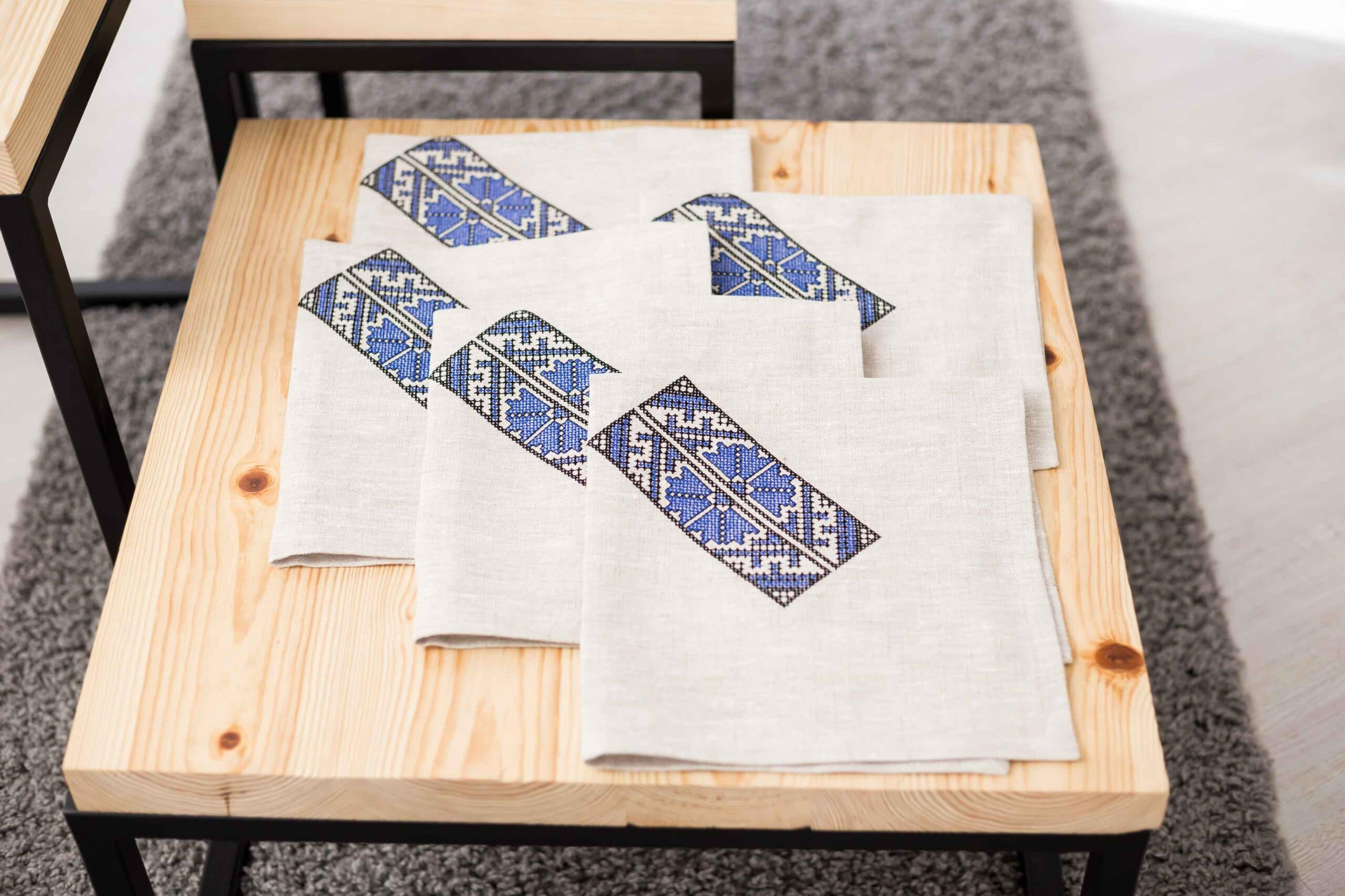 napkin on the table