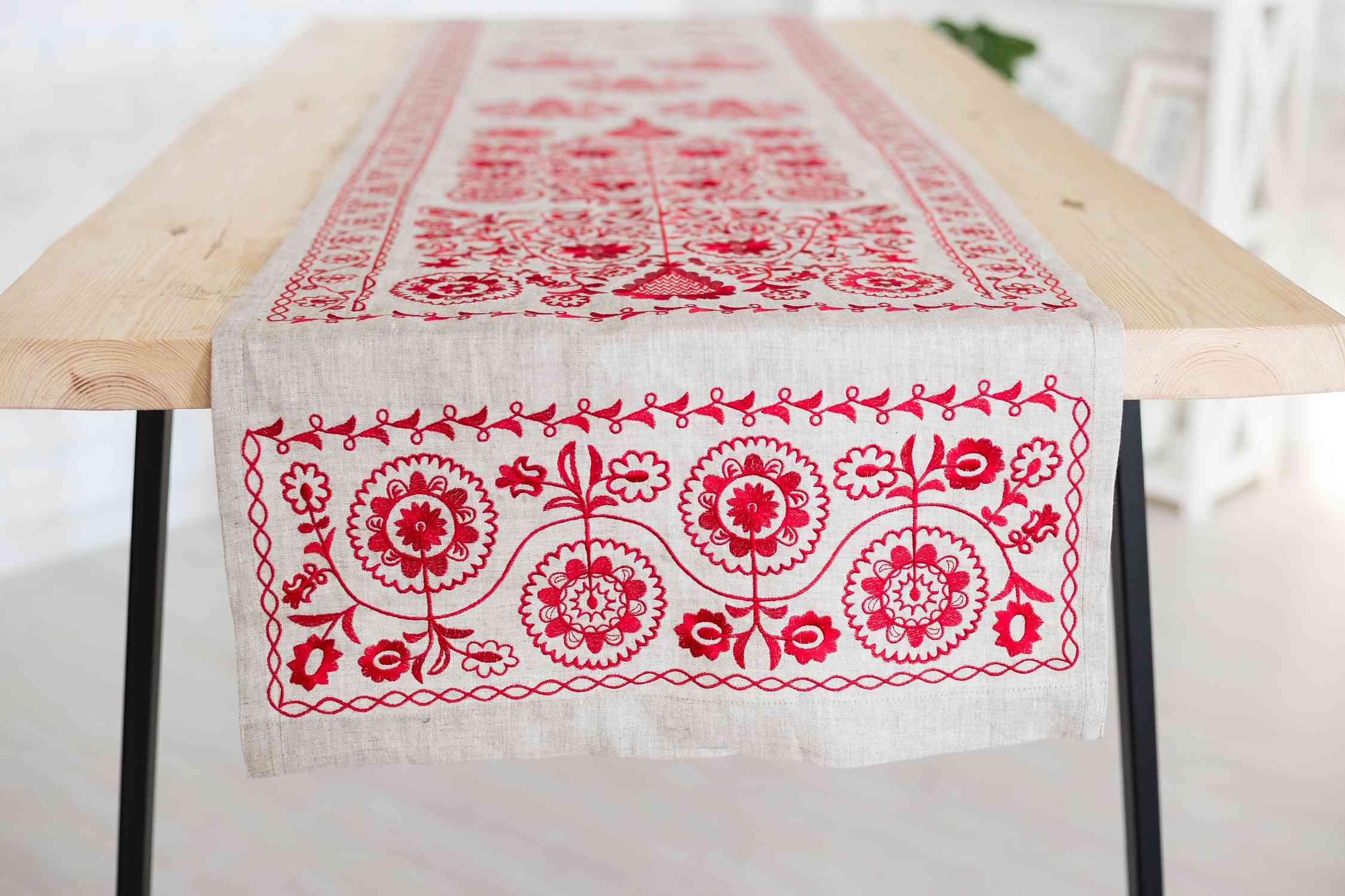 embroidered Ukrainian towels