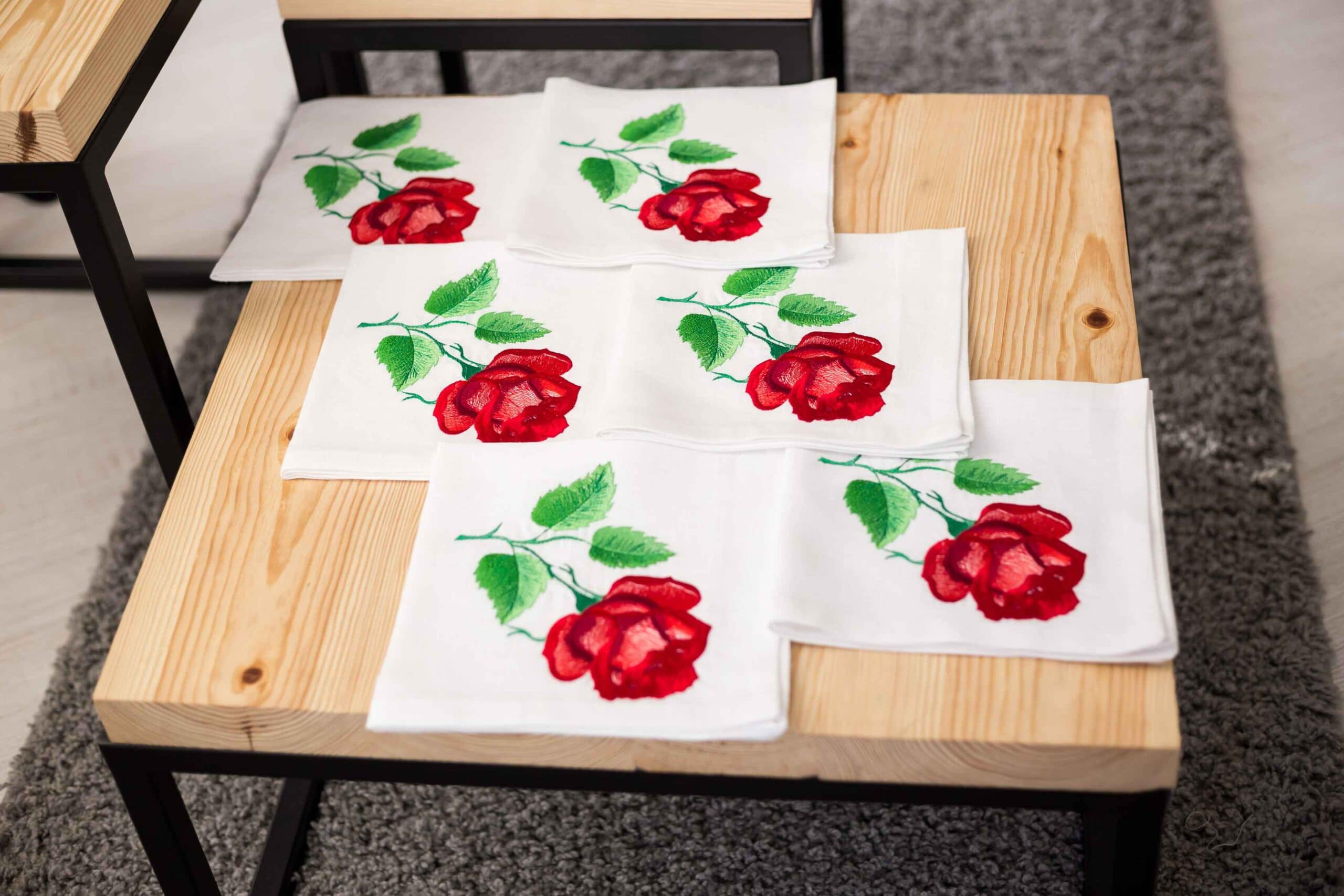 rose embroidery