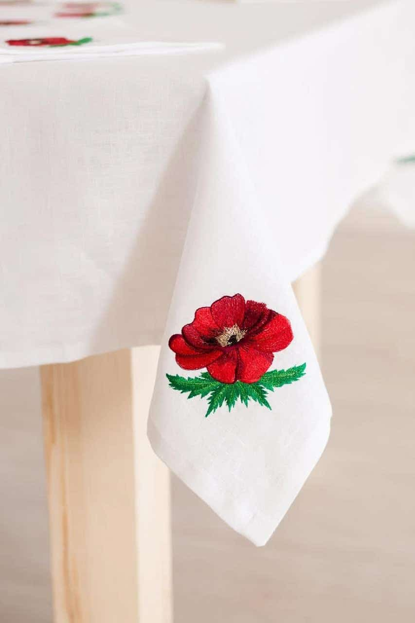 tablecloth with poppies to buy