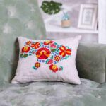 cushions with machine embroidery