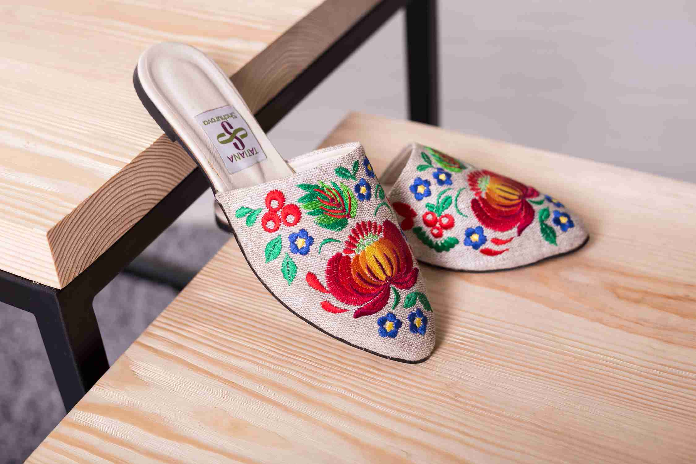 stitch embroidery shoes