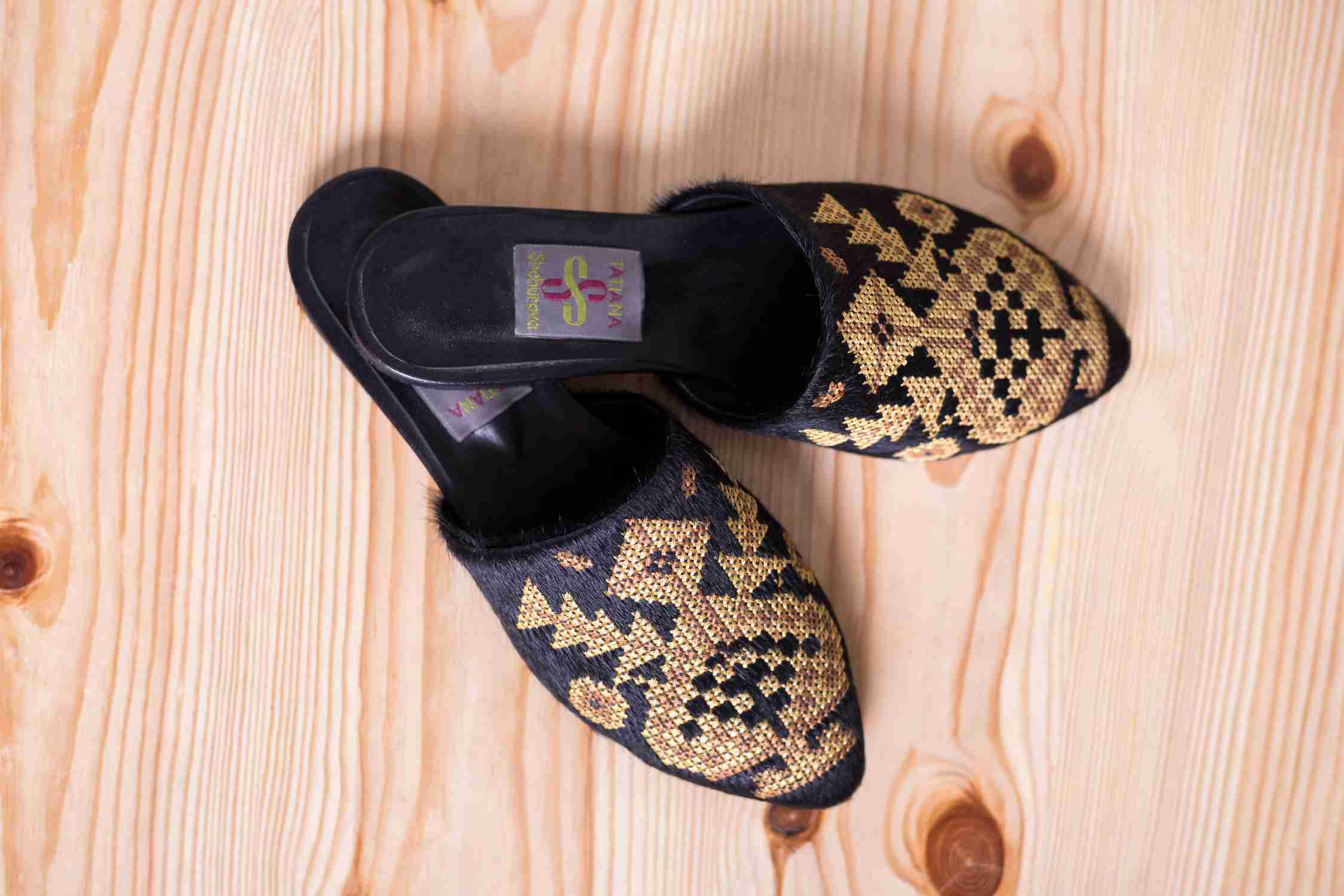 slippers with embroidery to order Ukraine