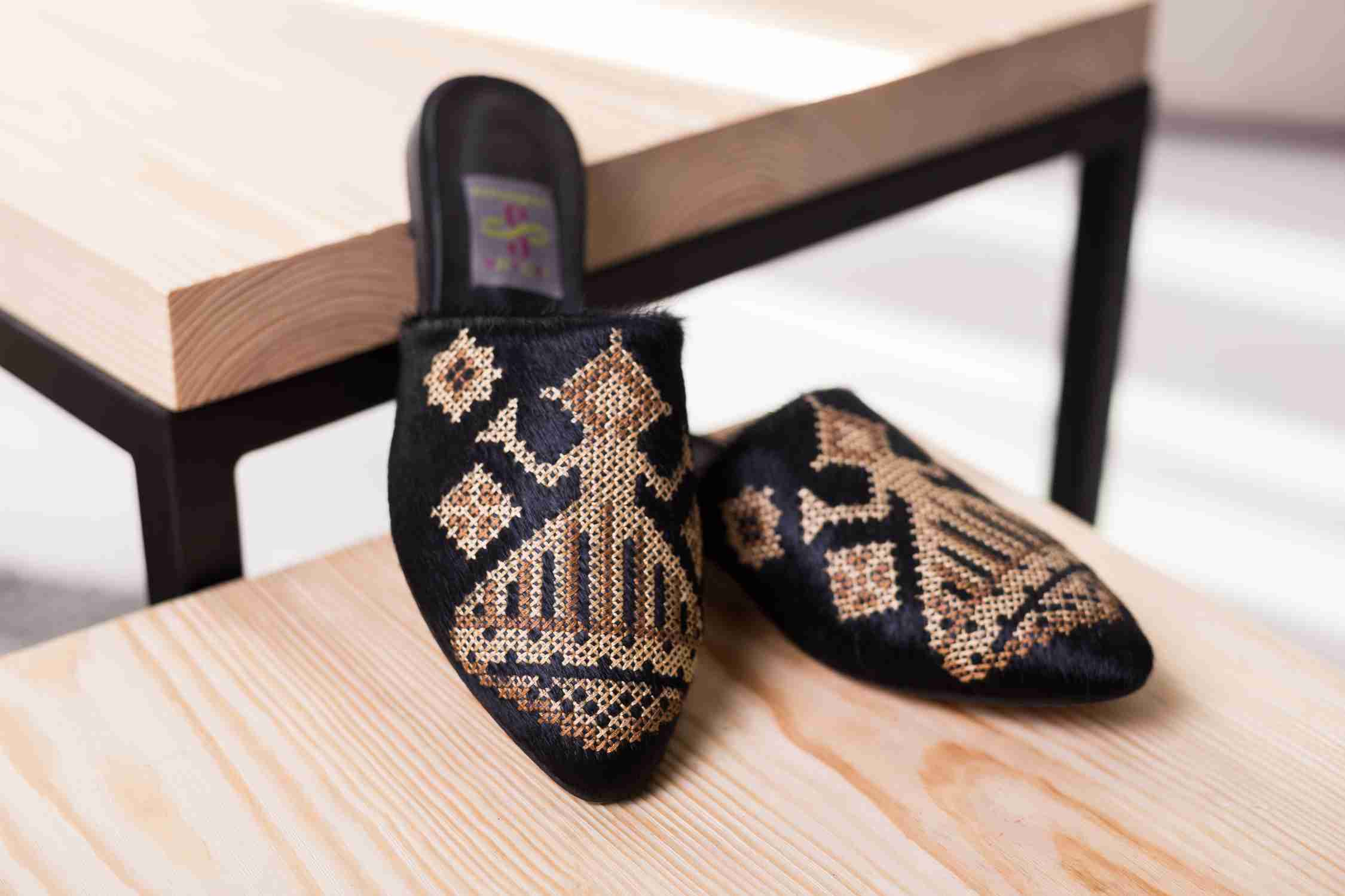 Buy slippers with embroidery