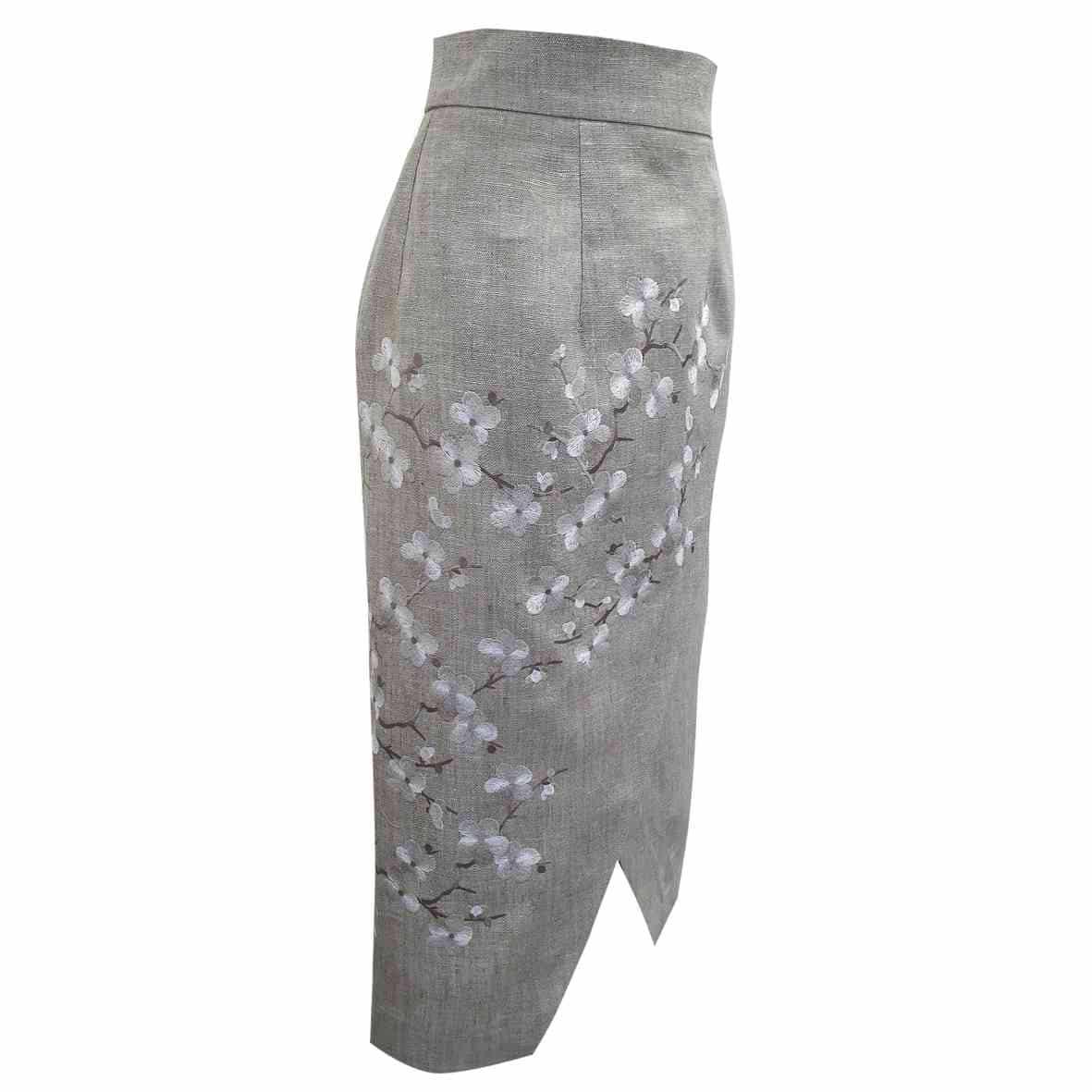 cutwork embroidered skirt