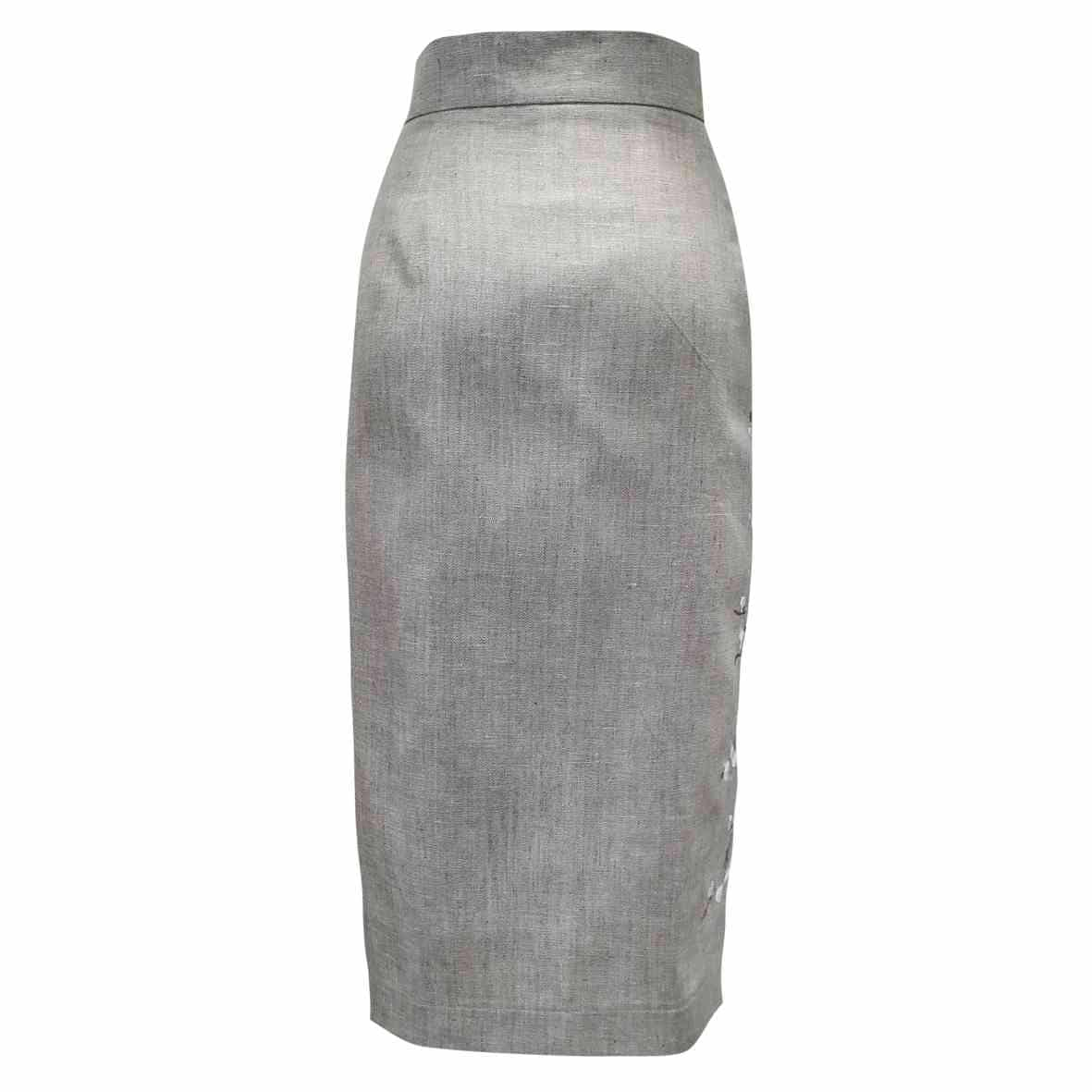 юбки с вышивкой по низу