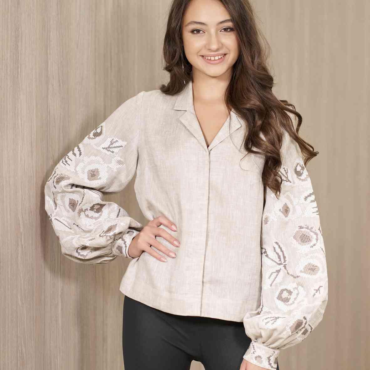 Ukrainian embroidered shirt for women