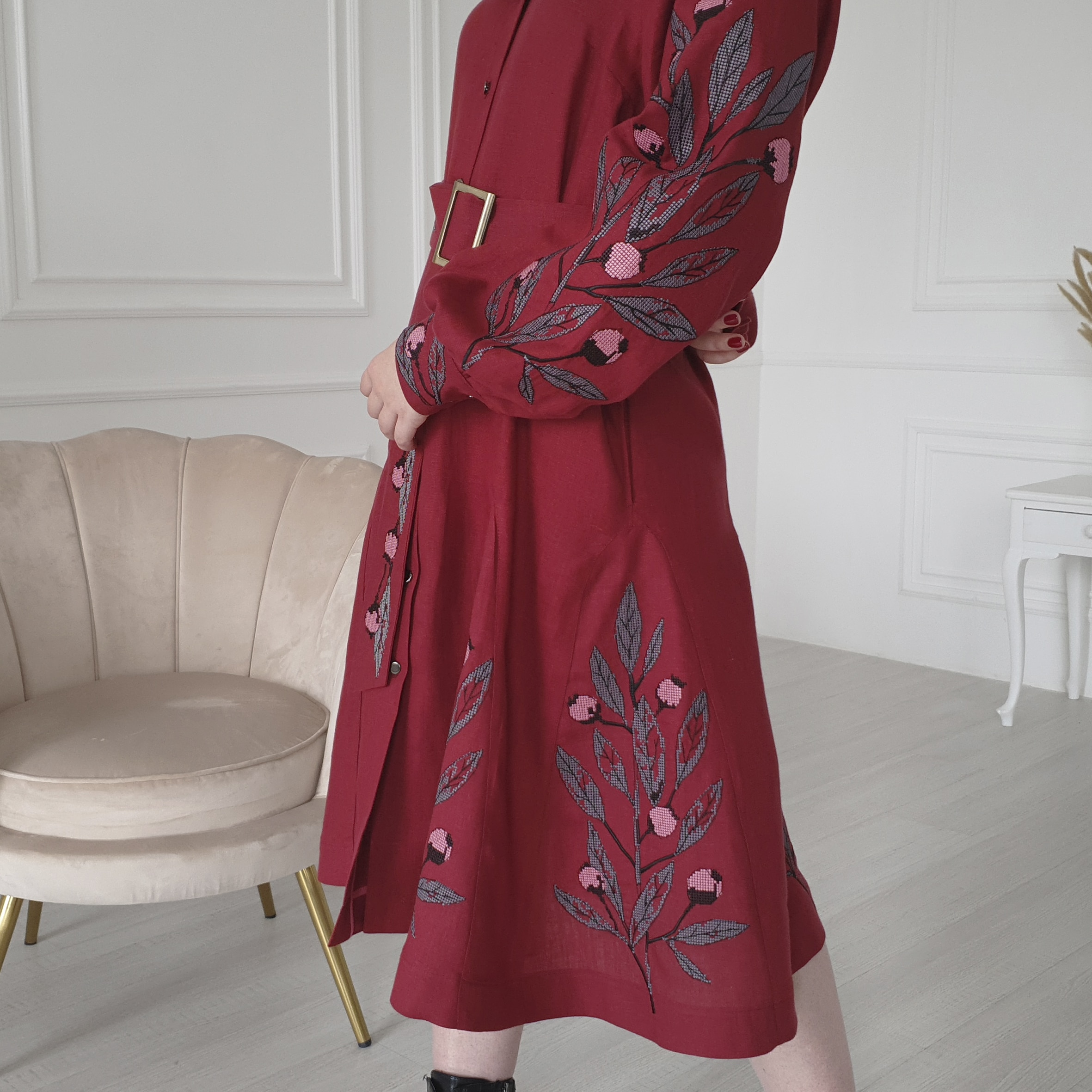 Buy a dress with embroidery