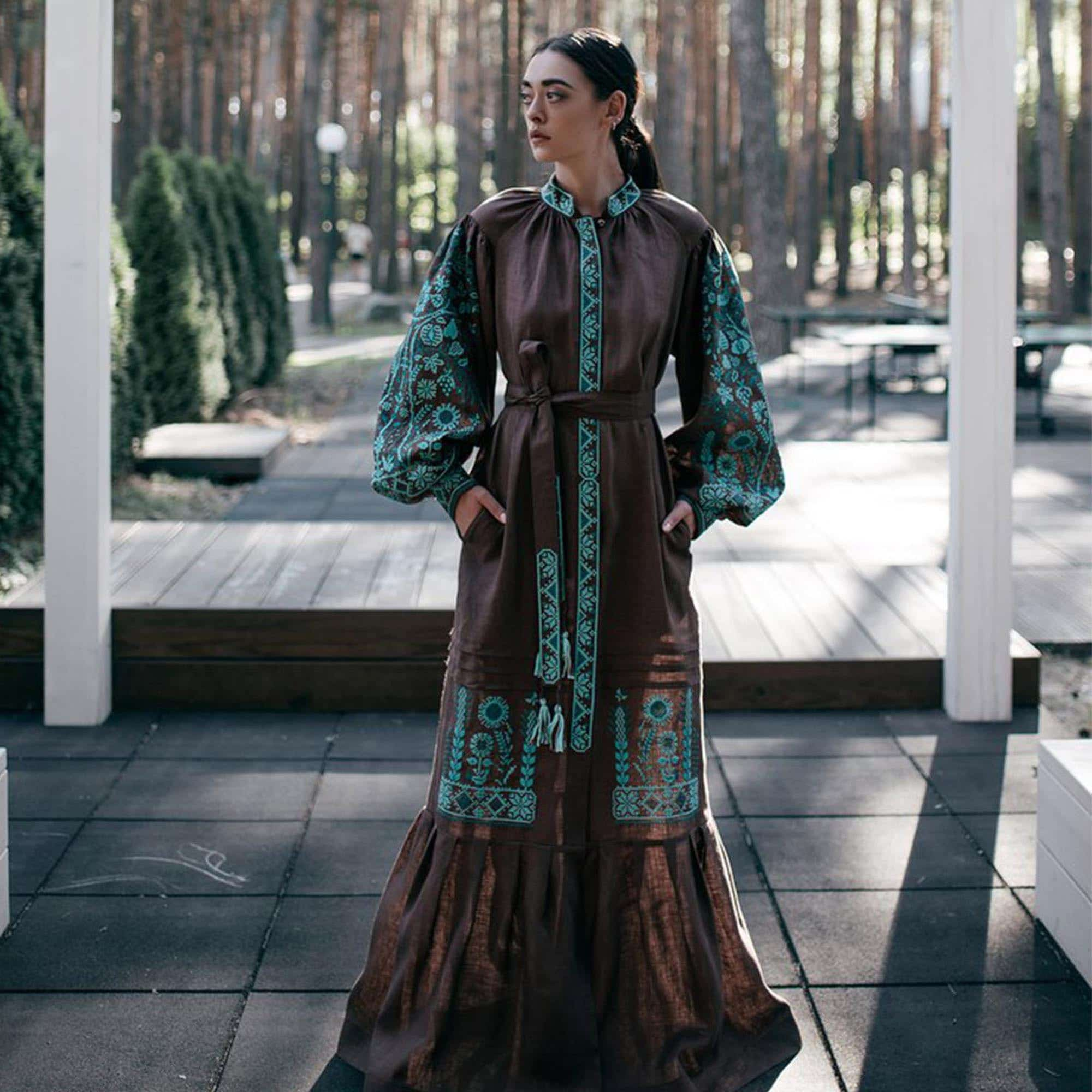 Dress with a symbol of beregin