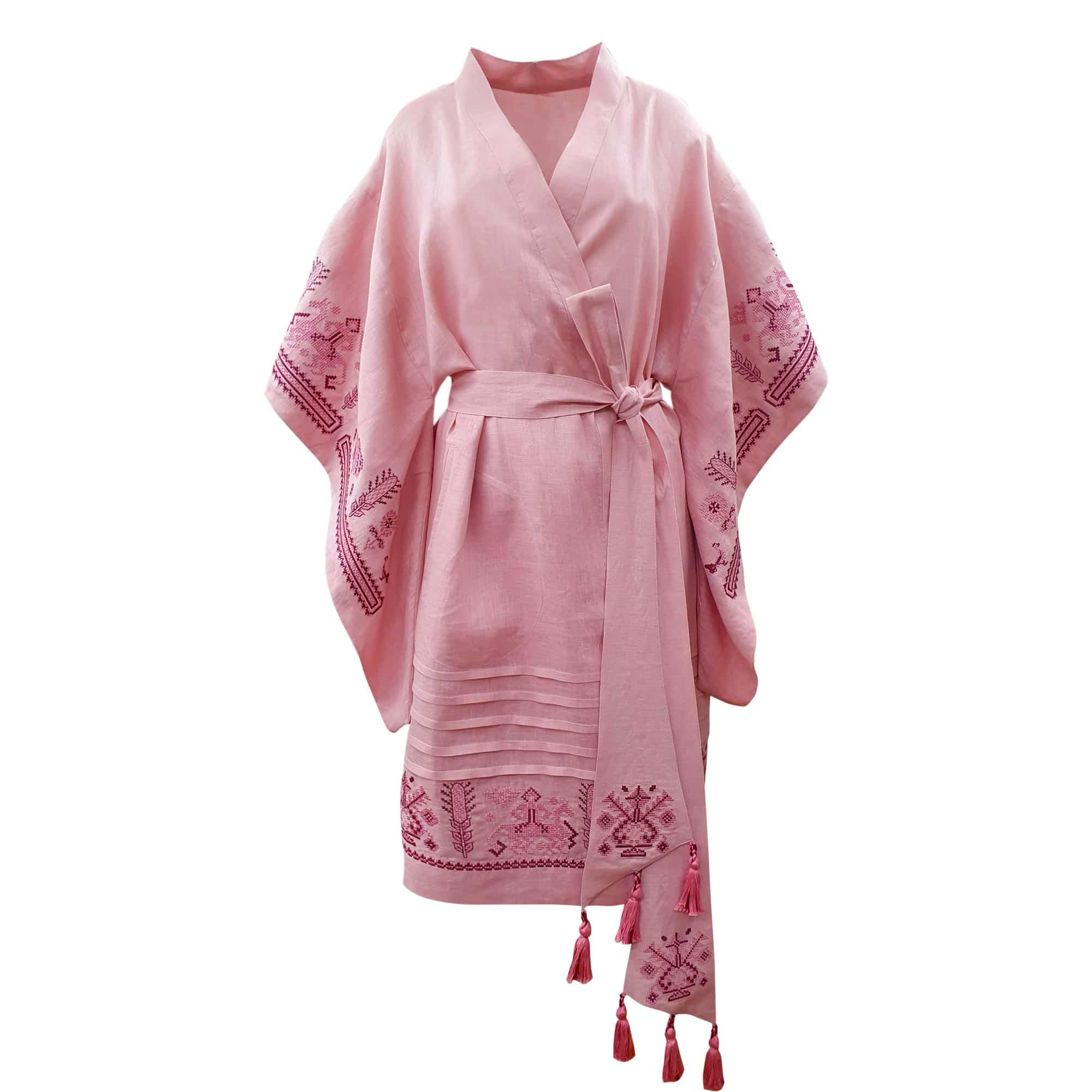 Robe with embroidery